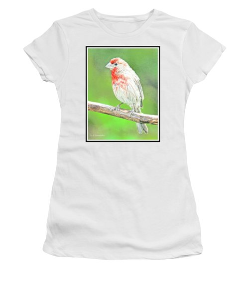 Purple Finch, Animal Portrait Women's T-Shirt
