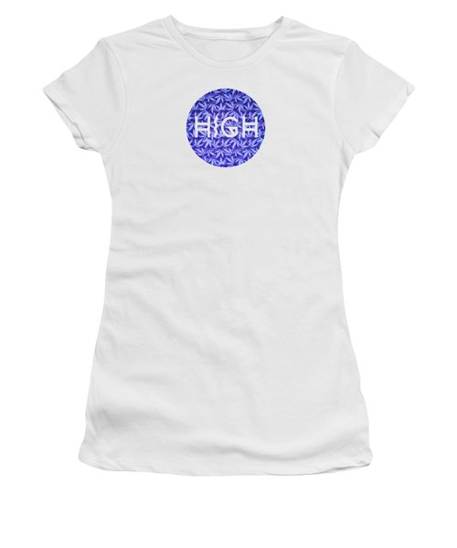 Purple Haze Cannabis Hemp 420 Marijuana  Pattern Women's T-Shirt