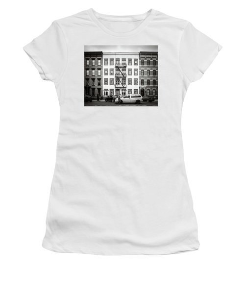 Women's T-Shirt featuring the photograph quick delivery BW by Steve Stanger
