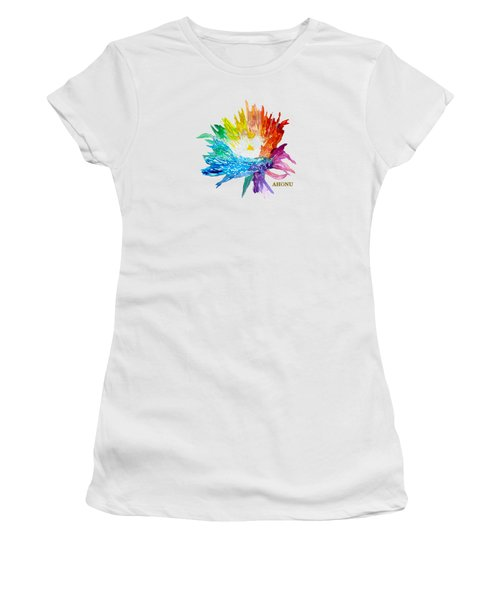 Rainbow Chrysanthemum Women's T-Shirt