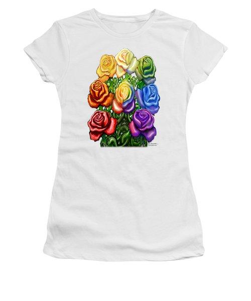 Rainbow Of Roses Women's T-Shirt