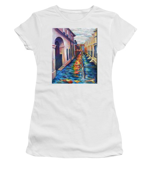 Rainy Pirate Alley Women's T-Shirt (Athletic Fit)