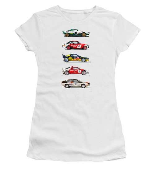 Rally Cars From The 70-80th Women's T-Shirt
