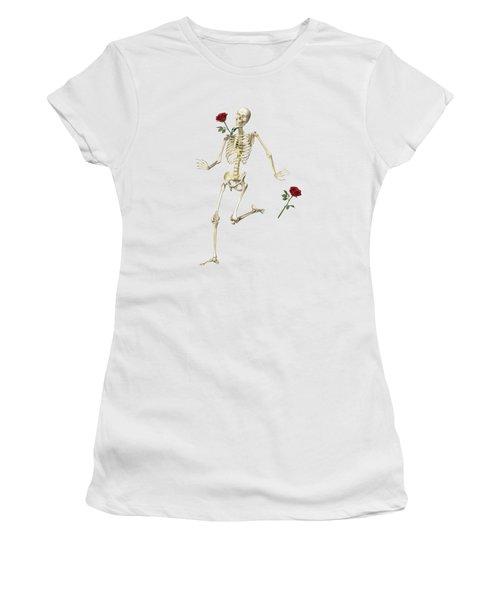 Rambling Rose Running Skeleton Women's T-Shirt