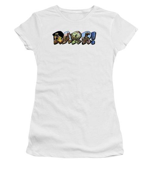 Rarr Big Letter Dinosaurs Women's T-Shirt