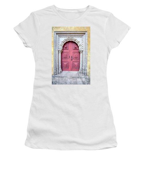 Red Medieval Door Women's T-Shirt