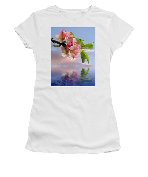 Reflections Of Spring At Apple Blossom Time Women's T-Shirt