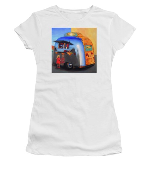 Reflections On An Airstream Women's T-Shirt