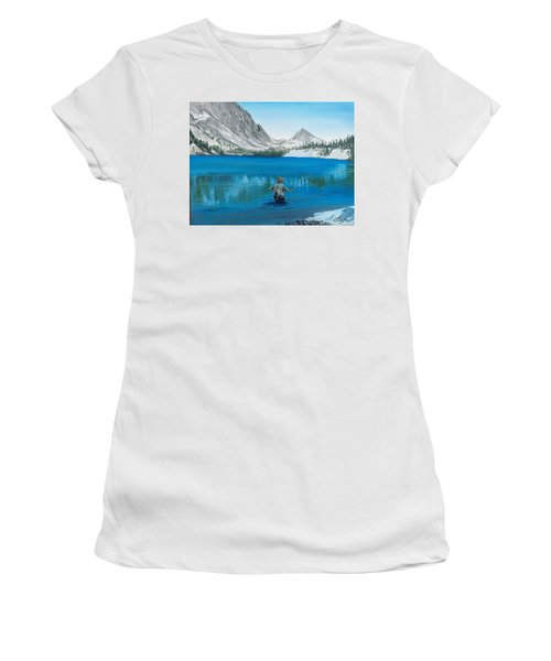 Women's T-Shirt featuring the painting Relaxing At Skelton by Kevin Daly