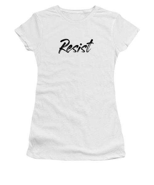 Resist - Black On White Women's T-Shirt