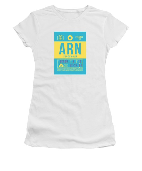 Retro Airline Luggage Tag 2.0 - Arn Stockholm Sweden Women's T-Shirt