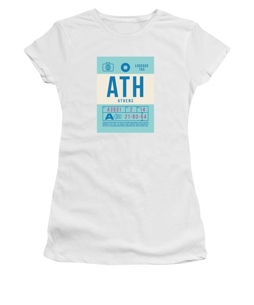 Retro Airline Luggage Tag 2.0 - Ath Athens Greece Women's T-Shirt