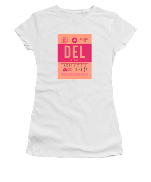 Retro Airline Luggage Tag 2.0 - Del Delhi India Women's T-Shirt