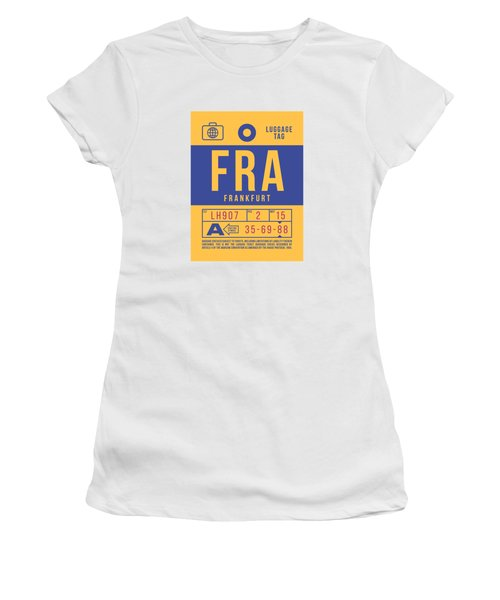 Retro Airline Luggage Tag 2.0 - Fra Frankfurt Germany Women's T-Shirt