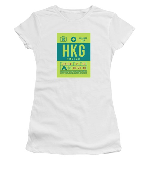 Retro Airline Luggage Tag 2.0 - Hkg Hong Kong Women's T-Shirt