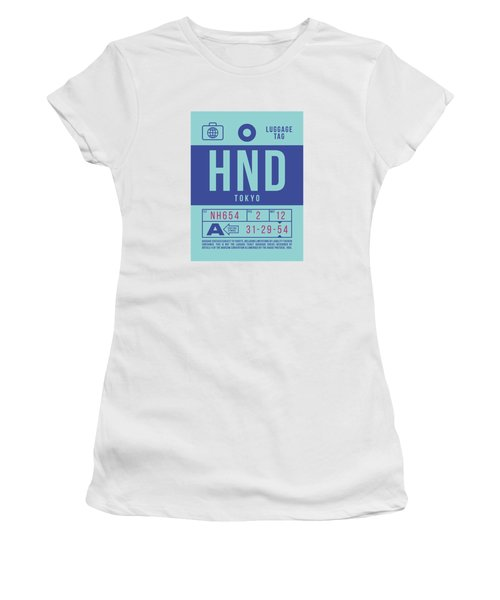 Retro Airline Luggage Tag 2.0 - Hnd Tokyo Haneda Japan Women's T-Shirt