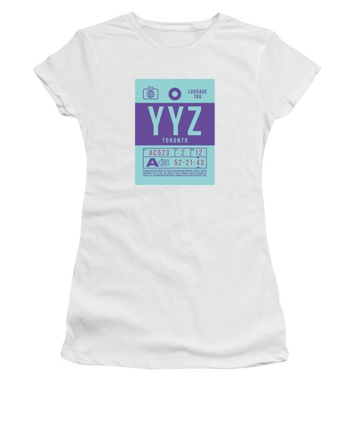 Retro Airline Luggage Tag 2.0 - Yyz Toronto International Airport Canada Women's T-Shirt
