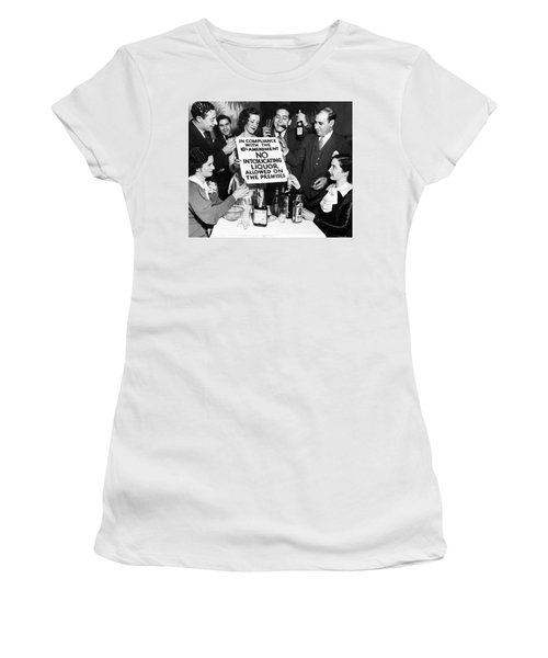 Revelers Burn Prohibition Sign  C. 1925 Women's T-Shirt
