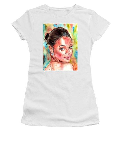 Rihanna Portrait Women's T-Shirt