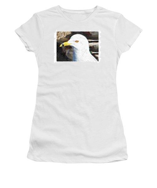 Ringbilled Gull Portrait Women's T-Shirt