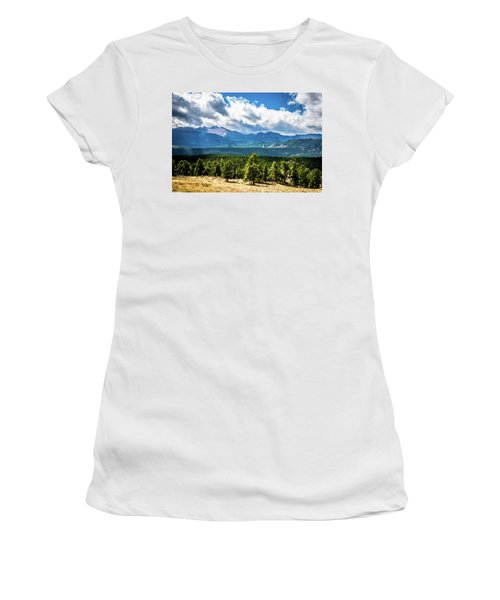 Women's T-Shirt (Athletic Fit) featuring the photograph Rocky Mountain Np I by James L Bartlett