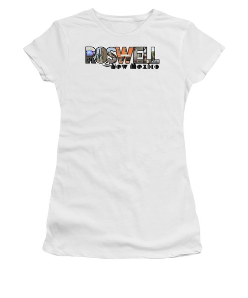 Roswell New Mexico Big Letter Travel Souvenir Women's T-Shirt