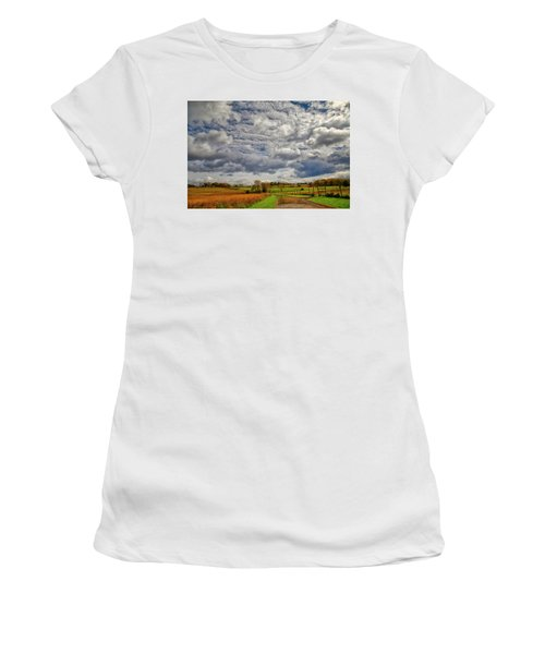 Women's T-Shirt (Athletic Fit) featuring the photograph Rural New Paltz Hudson Valley Ny by Susan Candelario