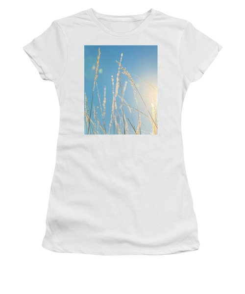 Women's T-Shirt (Athletic Fit) featuring the photograph Rural Sunflare by Dan Sproul