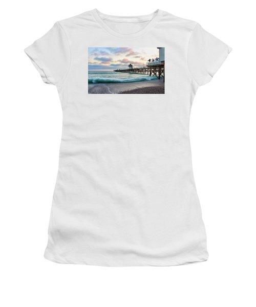 A San Clemente Pier Evening Women's T-Shirt