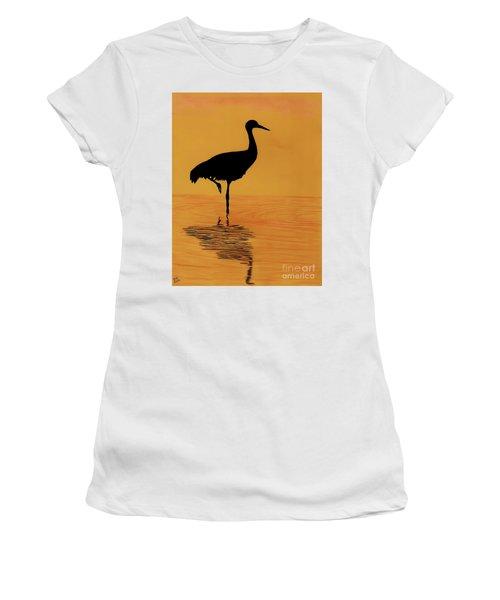 Sandhill - Crane - Sunset Women's T-Shirt