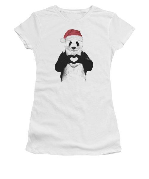 Santa Panda Women's T-Shirt