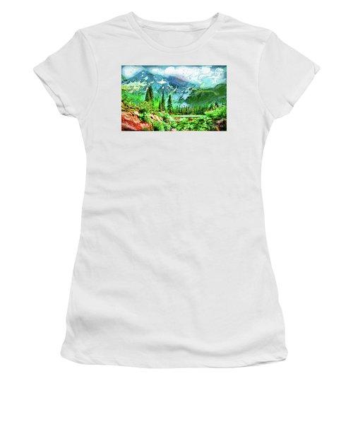 Scenic Mountain Lake Women's T-Shirt