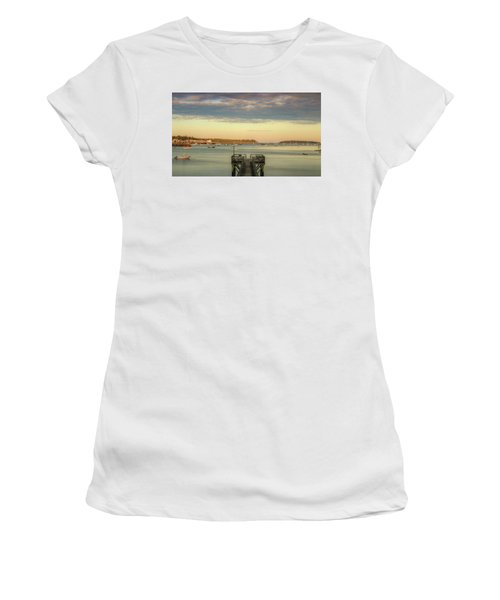 Women's T-Shirt (Athletic Fit) featuring the photograph Seal Harbor At Low Tide by Dan Sproul