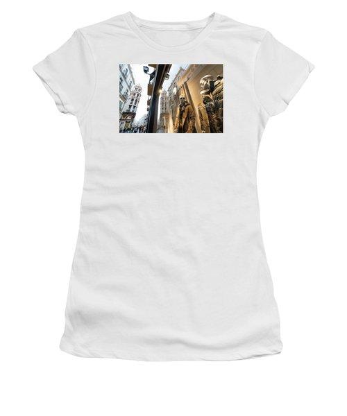 Women's T-Shirt featuring the photograph Sevilla Streets by Alex Lapidus
