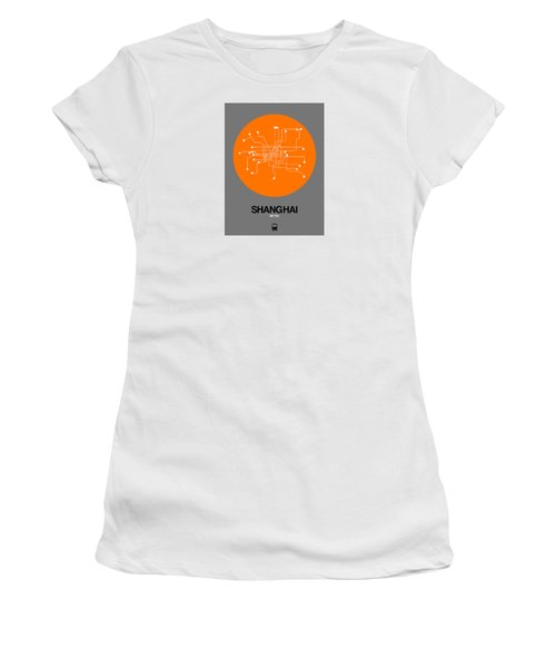 Shanghai Orange Subway Map Women's T-Shirt