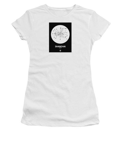 Shanghai White Subway Map Women's T-Shirt