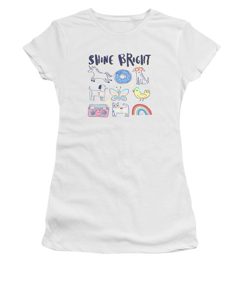 Shine Bright - Baby Room Nursery Art Poster Print Women's T-Shirt