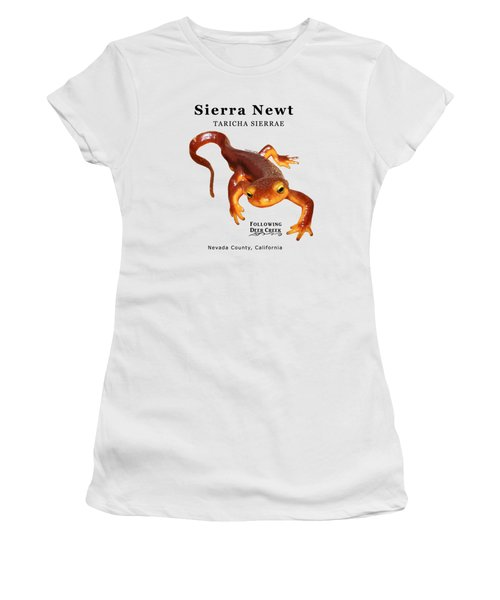 Sierra Newt - Black Text Women's T-Shirt