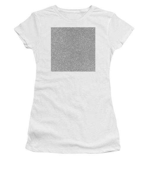 Silver Glitter  Women's T-Shirt