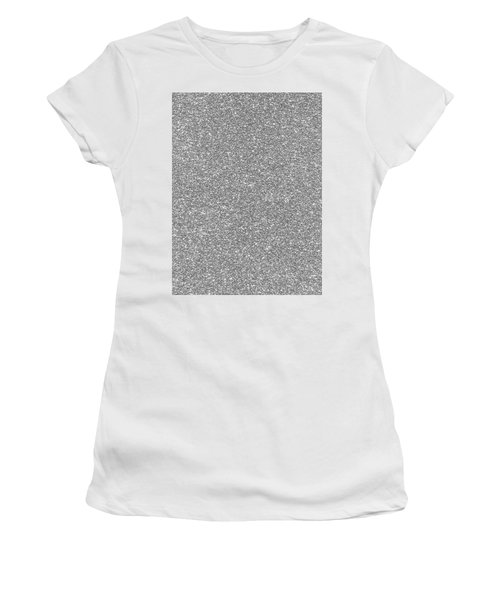 Women's T-Shirt (Athletic Fit) featuring the photograph Silver Glitter  by Top Wallpapers