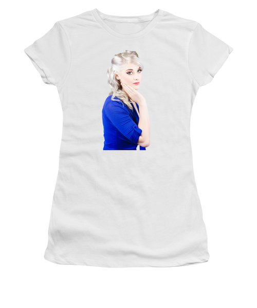Sixties Skincare Pinup In Blue Women's T-Shirt