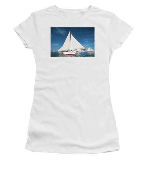 Women's T-Shirt (Athletic Fit) featuring the photograph Skipjack Rosie Parks by Mark Duehmig