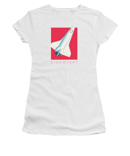 Space Shuttle Spacecraft - Crimson Women's T-Shirt