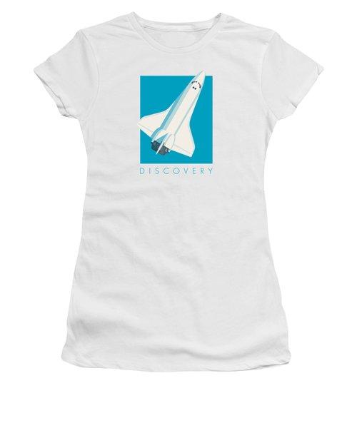 Space Shuttle Spacecraft - Cyan Women's T-Shirt