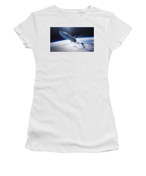 Spacex Bfr Leaving Earth Women's T-Shirt