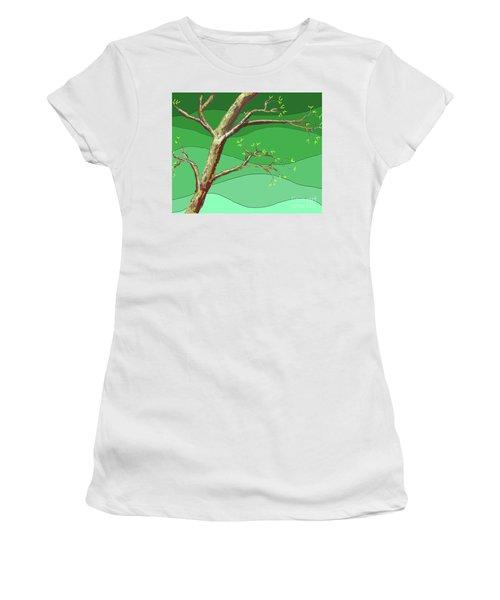 Spring Errupts In Green Women's T-Shirt