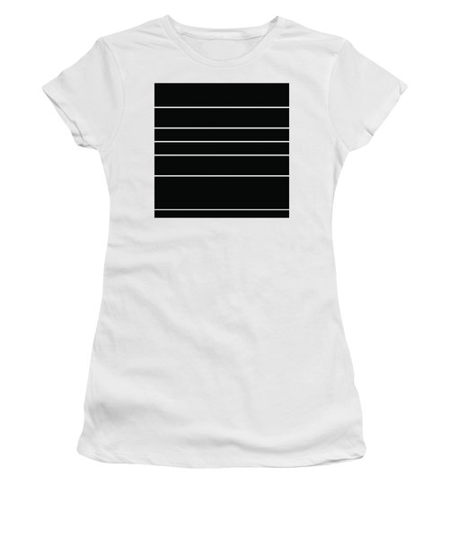 Stacked - Black And White Women's T-Shirt