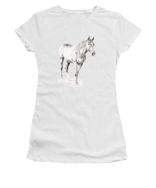 Standing Racehorse Women's T-Shirt