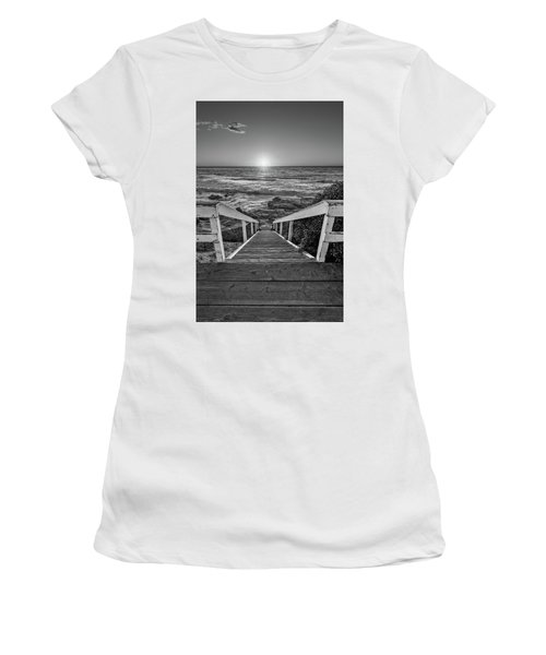 Steps To The Sun  Black And White Women's T-Shirt