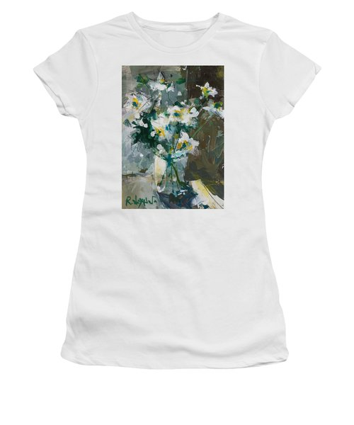 Still Life With White Anemones Women's T-Shirt (Athletic Fit)